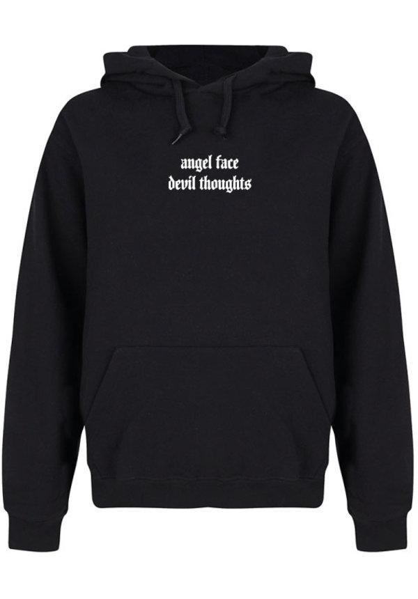 ANGEL FACE HOODIE BLACK