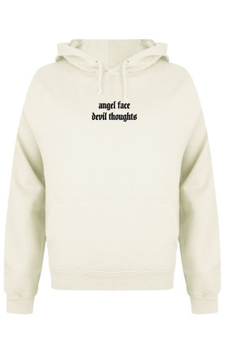 ANGEL FACE HOODIE CREAM