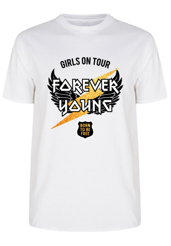 FOREVER YOUNG TEE WHITE