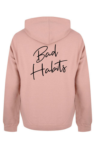 BAD HABITS SIGNATURE HOODIE DUSTY ROSE/BLACK