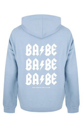 BABE BABE BABE HOODIE SOFT BLUE