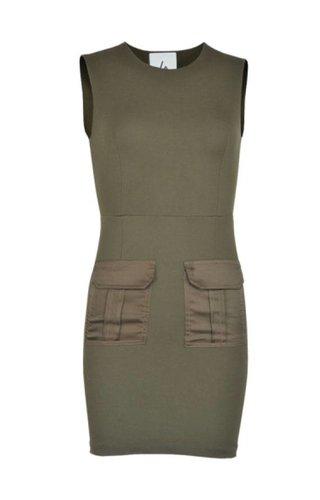 LA SISTERS POCKET DRESS ARMY