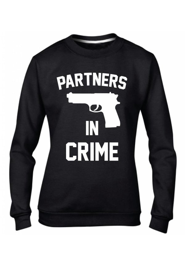 PARTNERS IN CRIME GUN COUPLE SWEATERS