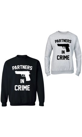 PPARTNERS IN CRIME GUN COUPLE SWEATERS