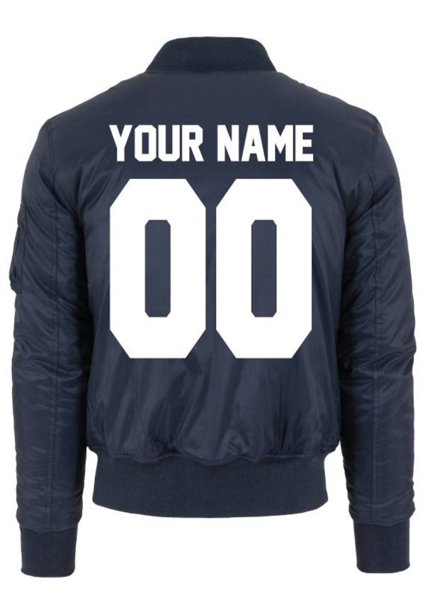 CUSTOM TEAM NUMBER BOMBER JKT (WMN)
