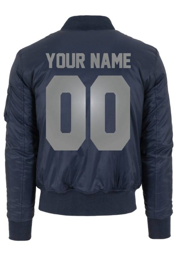 CUSTOM TEAM NUMBER BOMBER JKT SILVER EDITION (MEN)