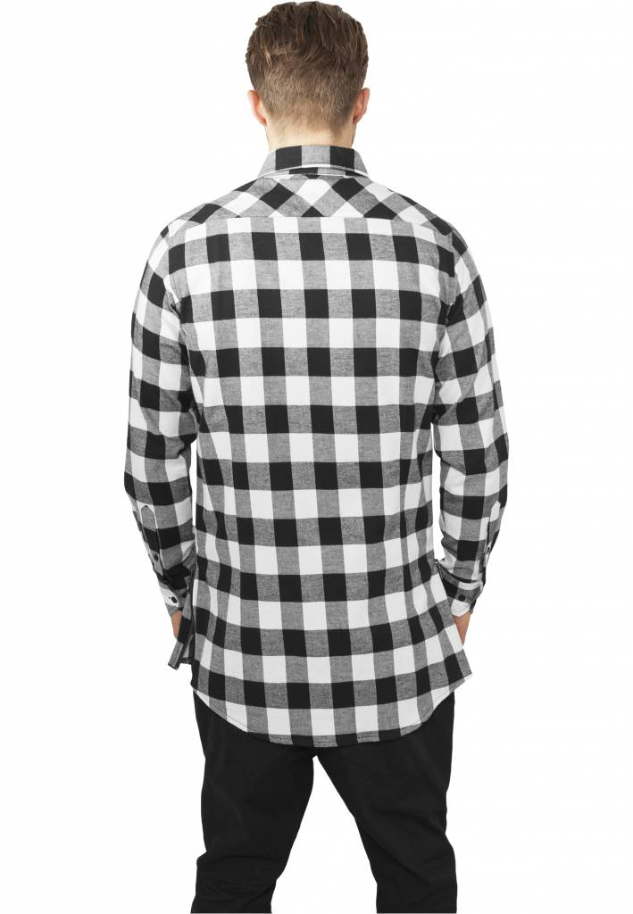 1babde838aa306 SIDE-ZIP LONG FLANNEL SHIRT BLACK / WHITE (MEN) - SUGAR&spikes