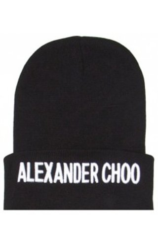 SIXTH JUNE ALEXANDER CHOO BEANIE BLACK