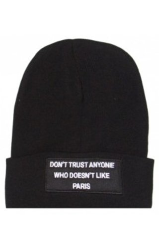 SIXTH JUNE DON'T TRUST BEANIE BLACK