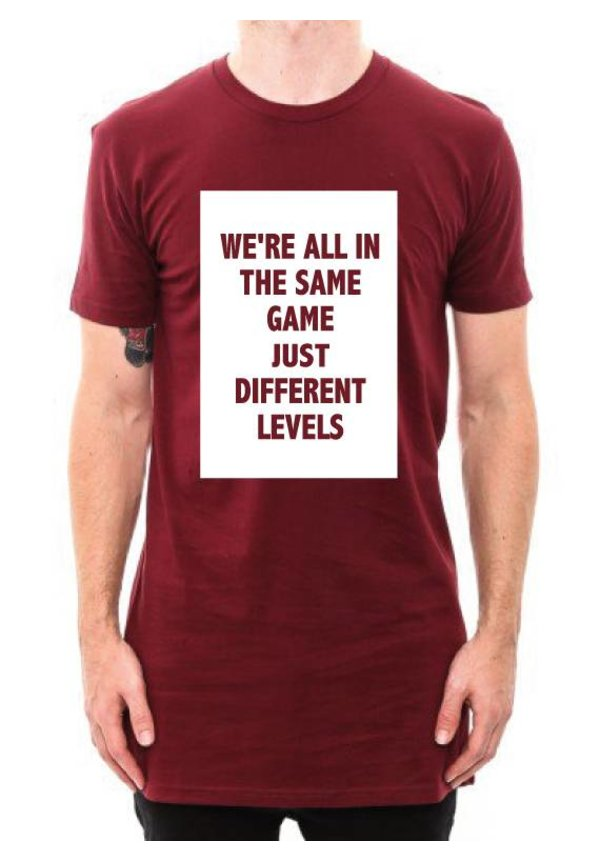 DIFFERENT LEVELS LONG TEE (MEN)