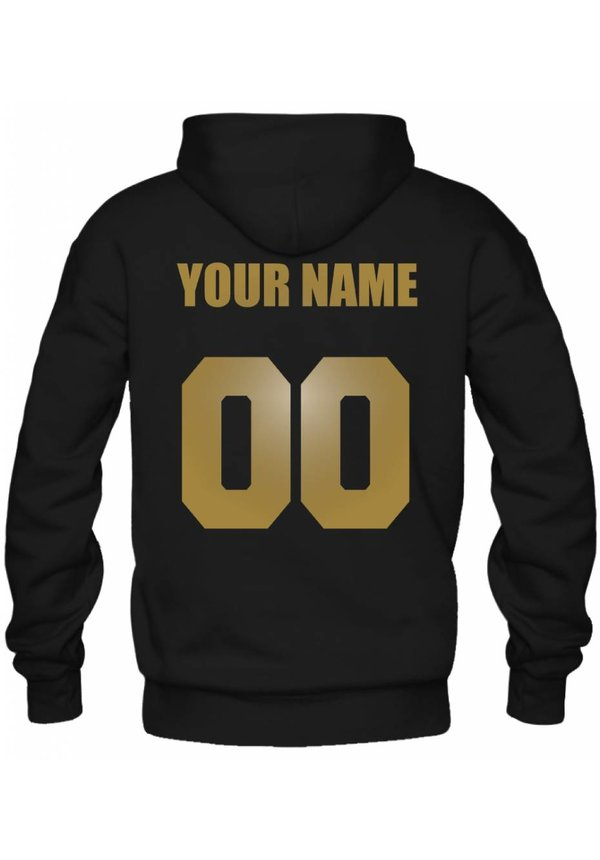 CUSTOM TEAM NUMBER HOODIE GOLD EDITION (UNISEX)