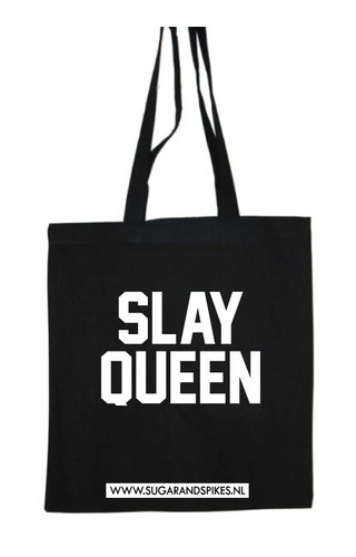 QUEEN B - SLAY QUEEN COTTON BAG