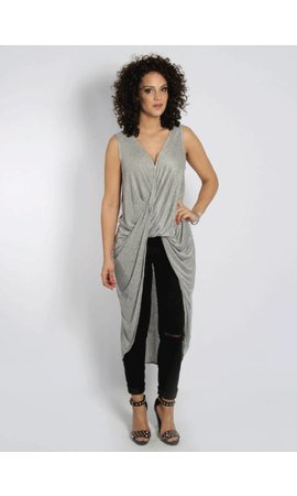 LONG DRAPED TOP