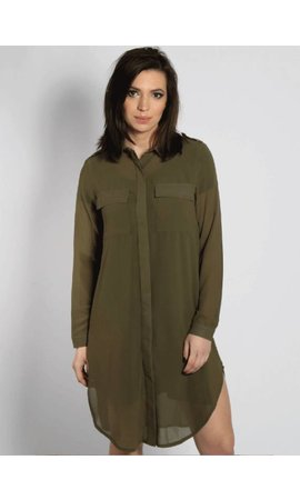 SHIRT DRESS ARMY