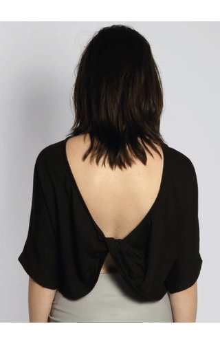 SIXTH JUNE TWISTED CROP TOP BLACK