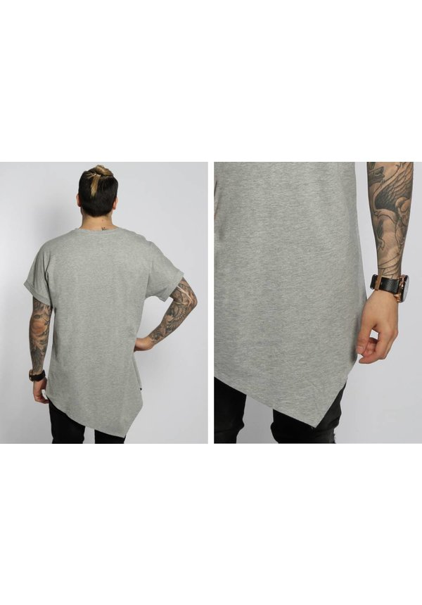 ASYMMETRIC LONG TEE GREY