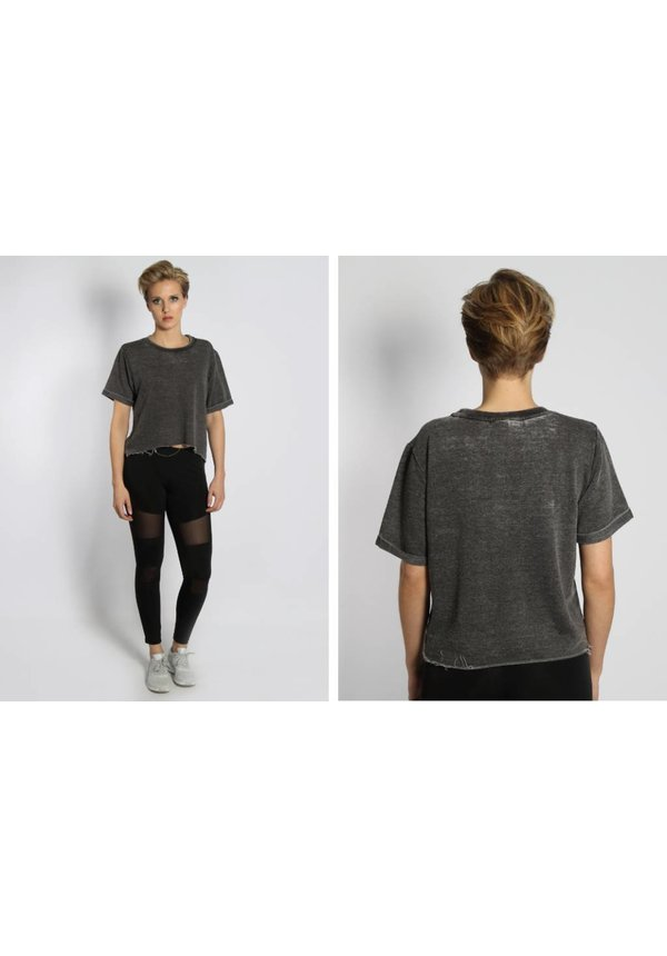 BURN OUT CROP TEE