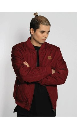 QUILT BOMBER JKT BURGUNDY (MEN)