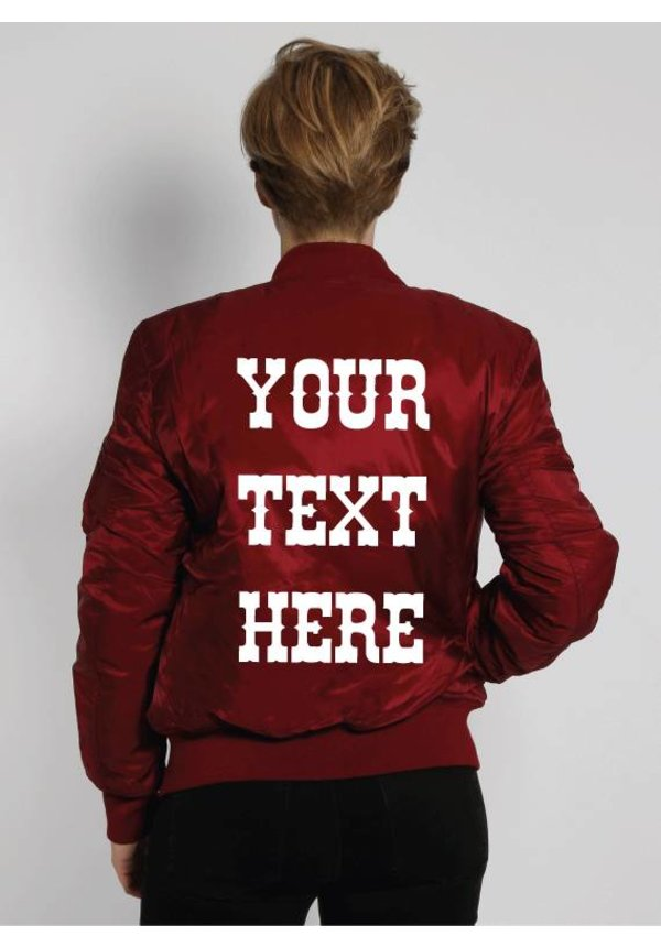 CUSTOM TEXT BOMBER (WMN)