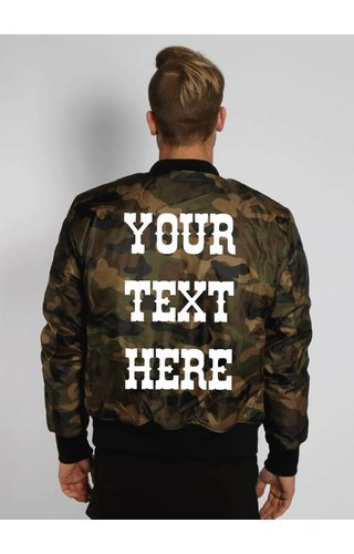 CUSTOM TEXT BOMBER (MEN)