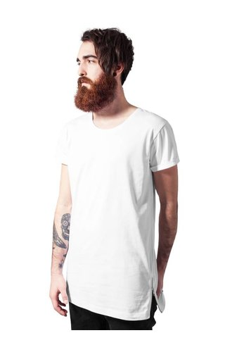 SIDE ZIP LONG TEE WHITE (MEN)