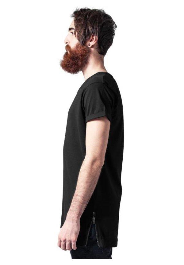 SIDE ZIP LONG TEE BLACK (MEN)