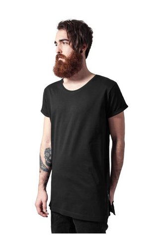SIDE ZIP LONG TEE BLACK (MEN)