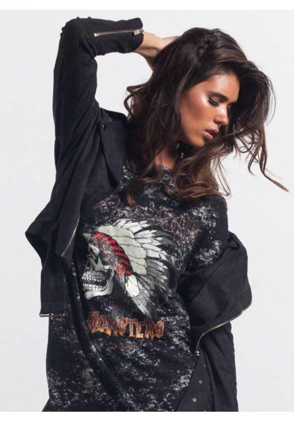 ROCK & ROLL TSHIRT DRESS BLACK (WMN)
