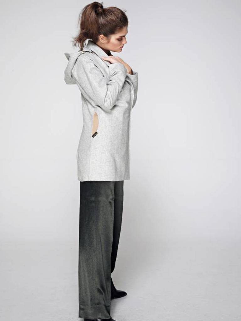 Waterdichte Wollen Regenjas Grijs Rain Couture Amsterdam