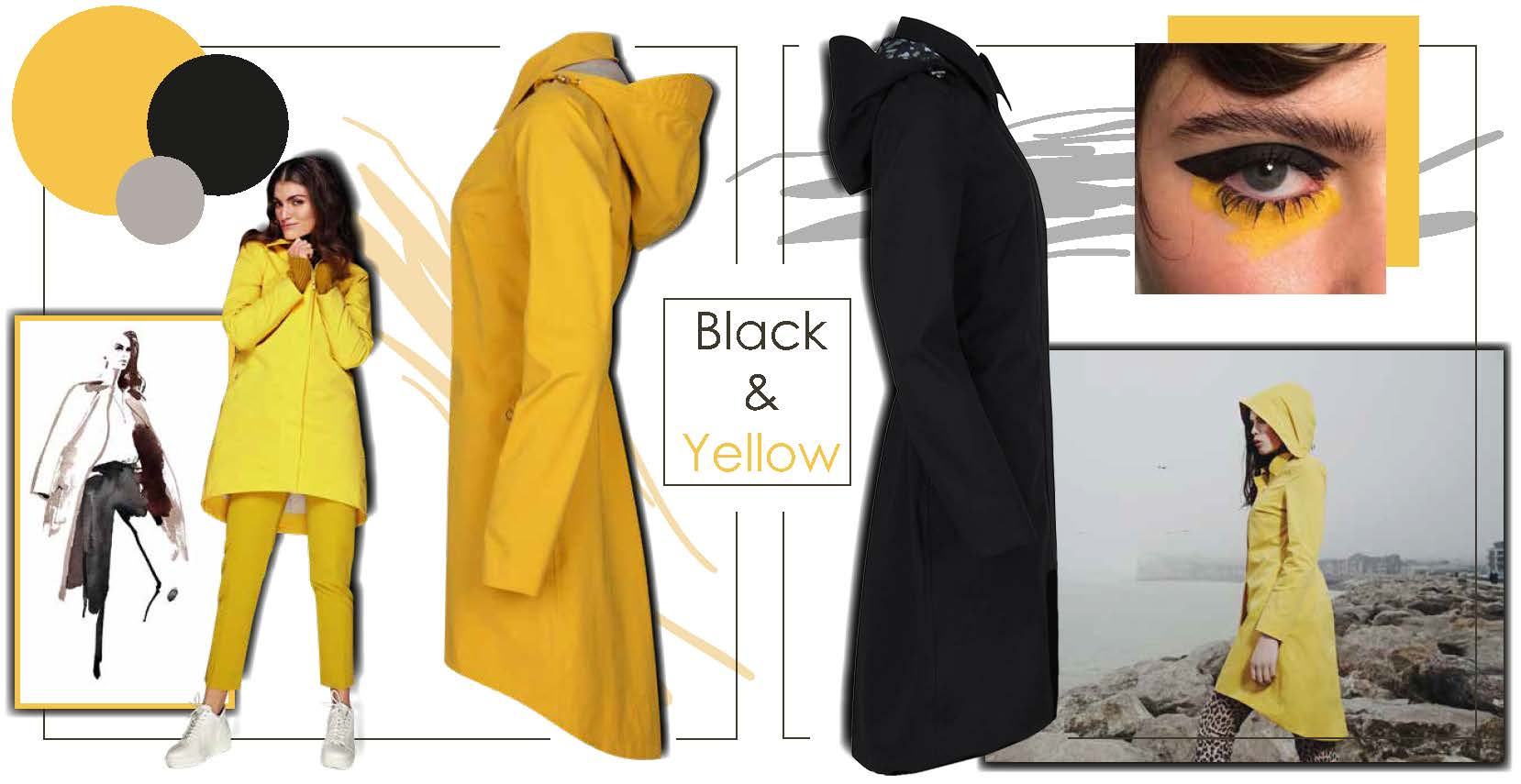 The waterfall coat in yellow