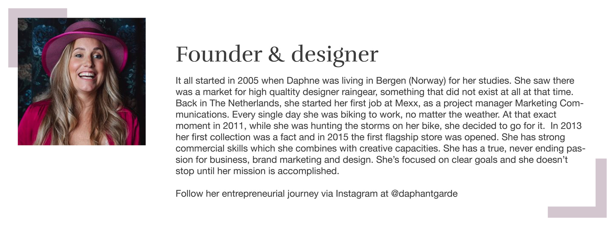Founder Daphne