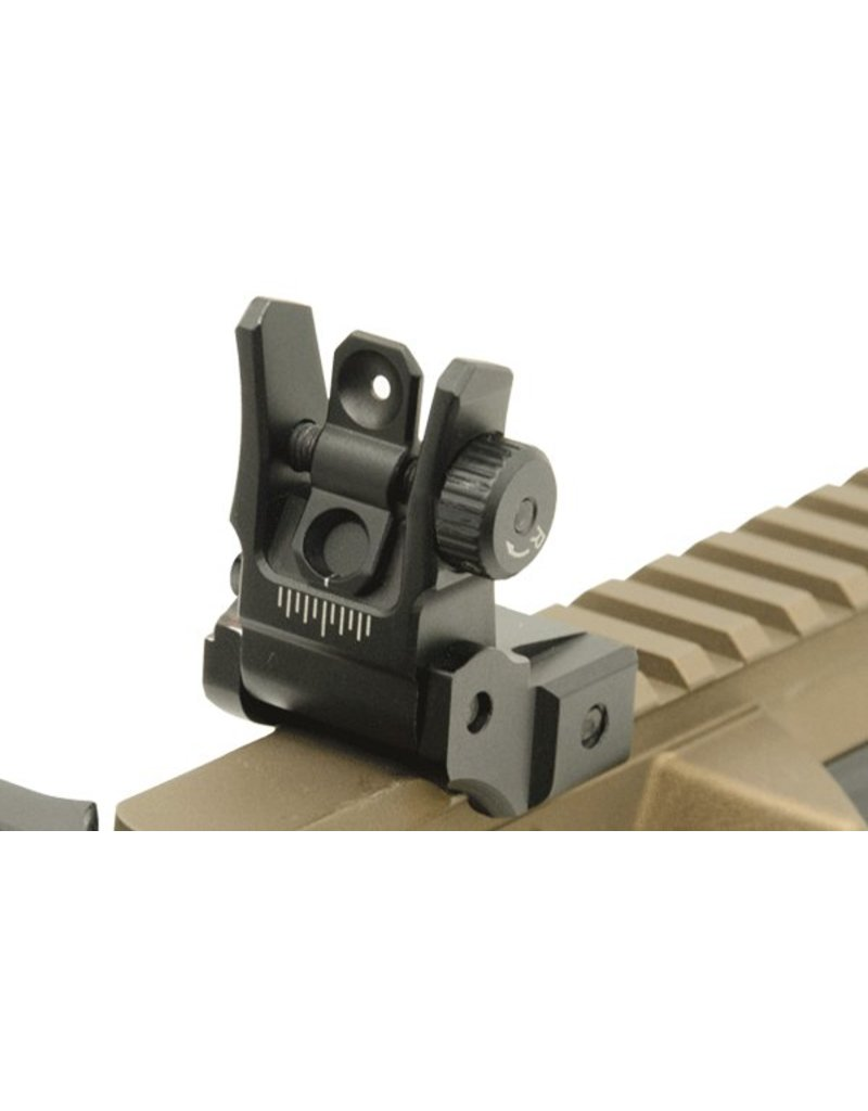 UTG - leapers UTG - Leapers, Low Profile Flip-up Rear Sight with Dual Aiming Aperture, (MNT-955)