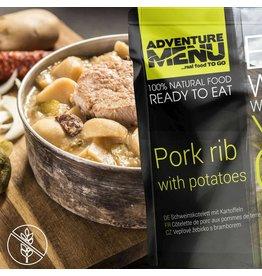 Adventure Menu Adventure Menu, Schweinskotelett mit Kartoffeln