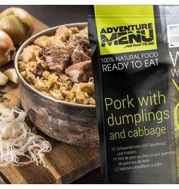 Adventure Menu Adventure Menu, Schweinebraten mit Sauerkraut und Knödeln