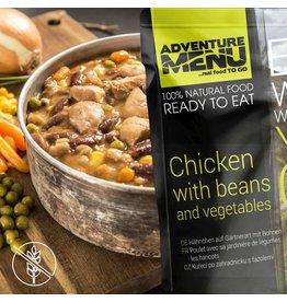 Adventure Menu Adventure Menu, Hühnchen auf Gärtnerart mit Bohnen