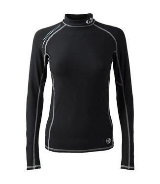 Gill Lycra shirt Pro Rash dames zwart lange mouw