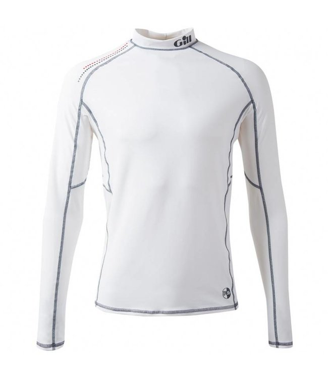 Gill Lycra shirt Pro Rash wit heren lange mouw