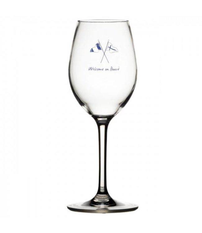 Marine Business Wijnglas kunststof Welcome  on board