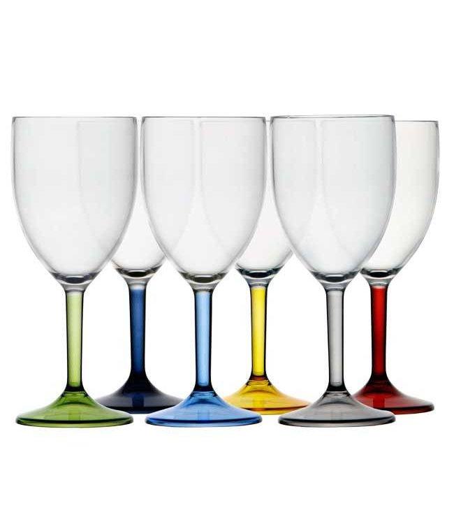 Marine Business Wijnglas Party gekleurde voet