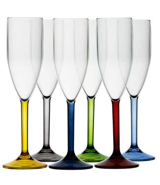 Marine Business Champagne glas Party, set van 6