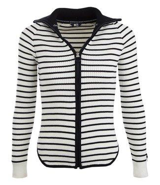 Roosenstein Vest Noya dames ecru/navy gestreept