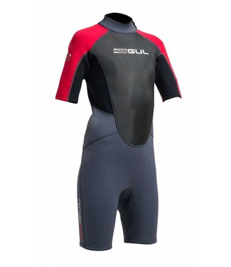 Gul Wetsuit Response junior shorty 3/2mm rood