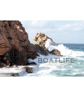 Boatlife Schilderij strand Corsica Q1