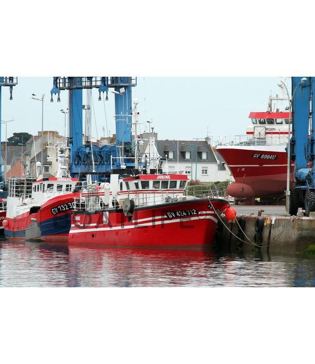 Boatlife Schilderij vissersboot Bretagne J4