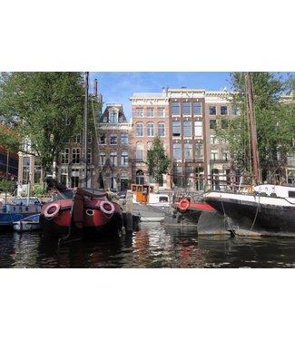 Boatlife Schilderij Amsterdam grachten R1