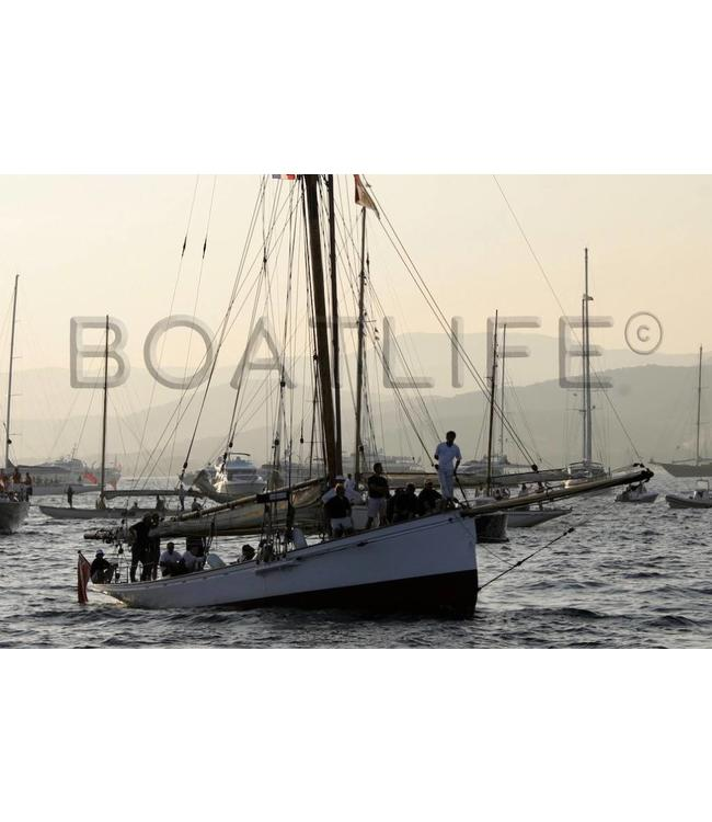 Boatlife Schilderij boten op zee  A5