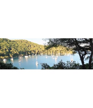 Boatlife Schilderij baai Mljet P1 panorama