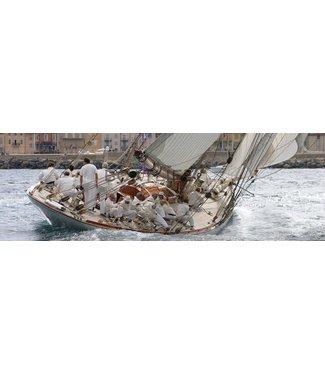 Boatlife Schilderij zeilboot panorama A3