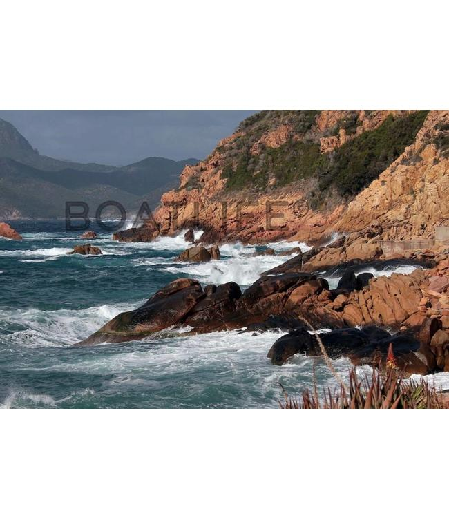 Boatlife Schilderij kust Corsica Q2