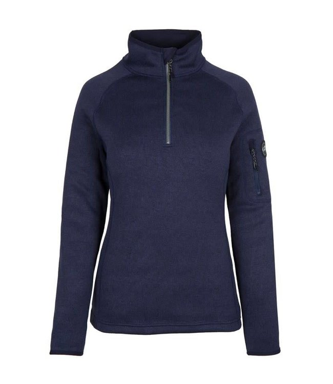 Gill Fleece trui gebreid dames navy